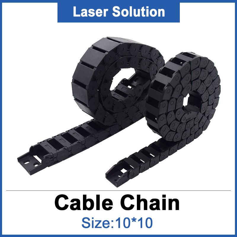 Tank Chain 10*10mm For Laser Engraving & Cutting Machine Plastic Material Transmission Chain