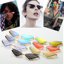 2020 New Arrival Women Small Frame Vintage Cat Eye Sunglasses UV400 Sun Shades Glasses Street Eyewear Trending Sunglasses chic cat eye shape frame splicing metal sunglasses for women