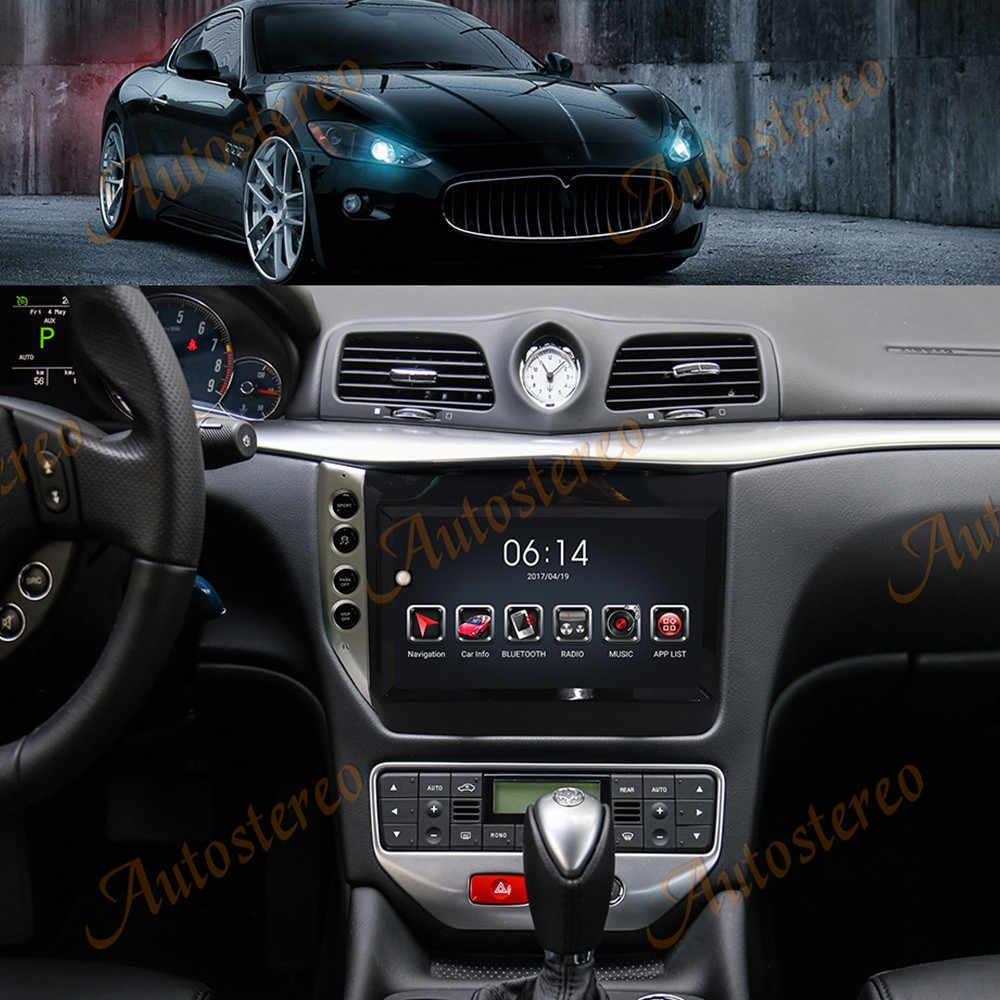 Teslaสไตล์PX6 Android 9.0 4 + 64GBเครื่องเล่นวิทยุระบบนำทางGPS CARPLAY DSPสำหรับMaserati GT GC grancabrio GranTurismo 2007-15
