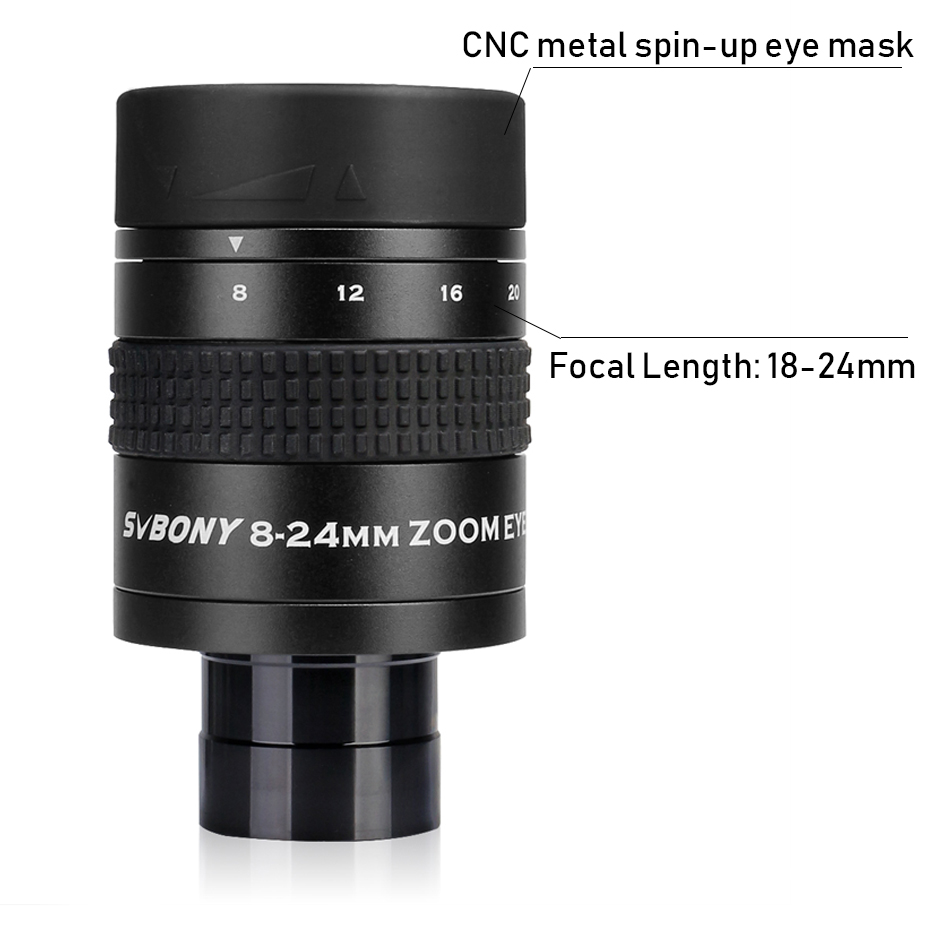 Tools : SVBONY SV171 1 25inch 8-24mm Zoom Eyepiece Lens FMC 7Elements 4 Group Structure for Monocular Astronomy Telescope