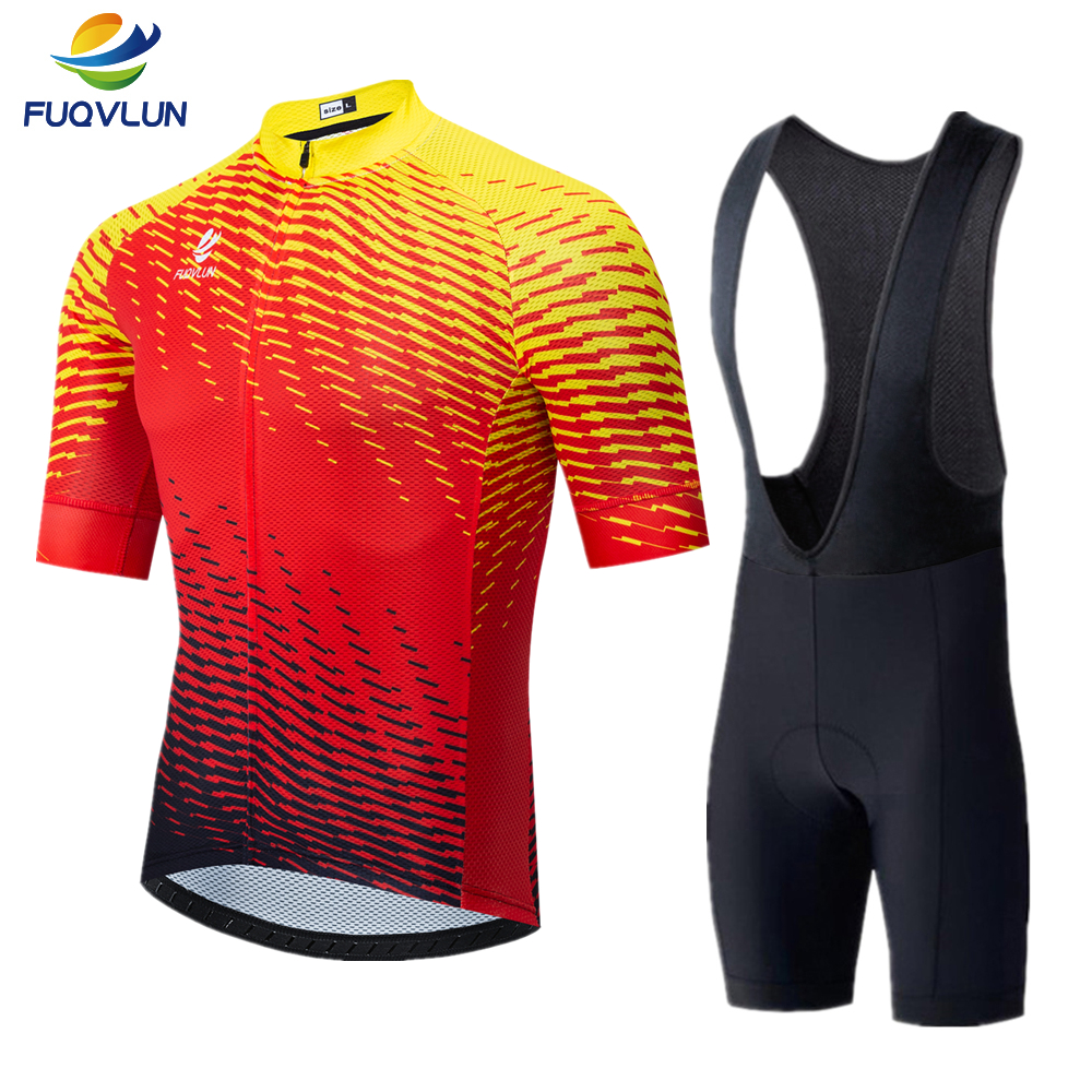 FUQVLUN Pro Cycling Jersey Set Ropa Ciclismo Sports Jersey Cycling Clothing cycle bicycle Wear racing Bike Clothes