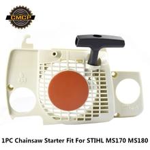 1 шт. стартер в сборе подходит для бензопилы STIHL MS170 MS180 бензопила стартер бензопила запасные части