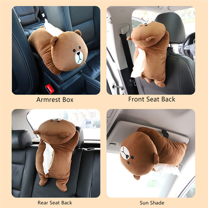 Cute Dogs Cats Universal Car Armrest Box Car Tissue Box Creative Cartoon Cute Car Tissue Holder Paper Interior Accessories in Tissue Boxes from Automobiles Motorcycles