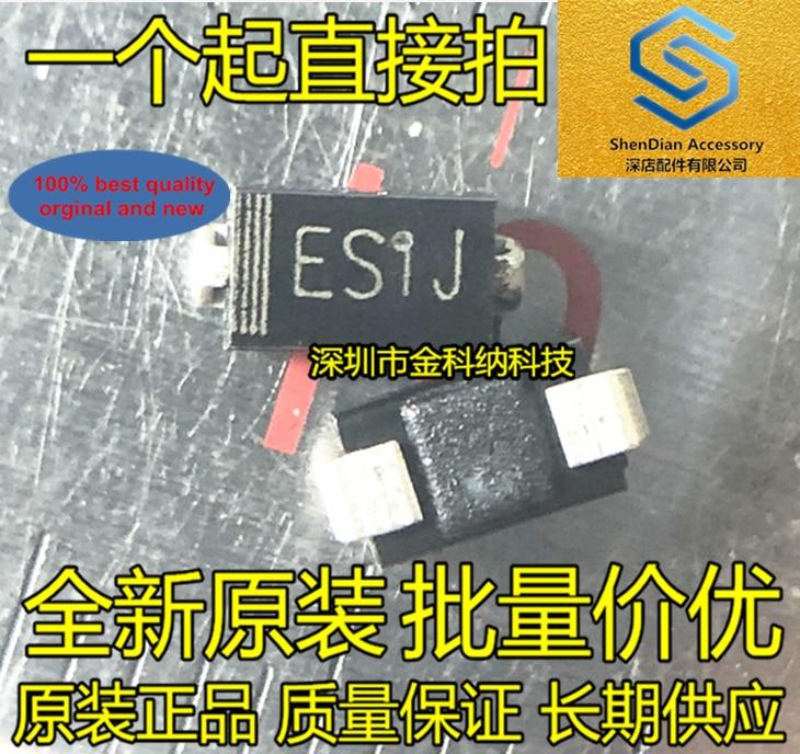 100pcs 100% Orginal New Ultra Fast Recovery Patch ES1J DO-214AC Silk ES1J Diode 1A 600V SMA SF18 Real Photo