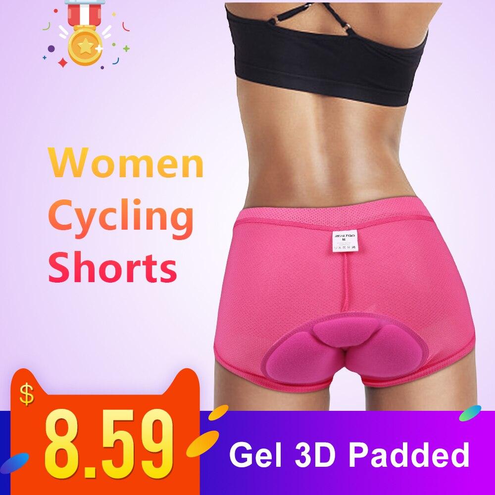 Women Cycling Shorts Rose Bicycle Cycling Comfortable Underwear Compression Tights Gel 3D Padded Bike Short Pants MTB Shorts