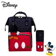 Disney Mickey Minnie Mummy Maternity Backpack Baby Diaper Bags Waterproof Large Capacity Bag Nursing Travel Nappy