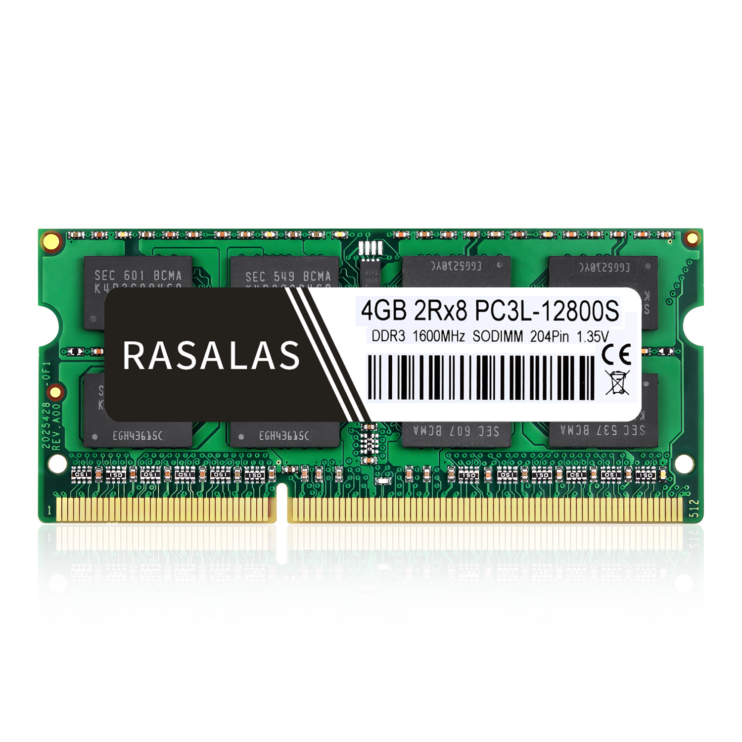 Rasalas <font><b>4GB</b></font> RAM <font><b>DDR3</b></font> 2Rx8 PC3L-12800S <font><b>DDR3</b></font> DDR3L 1600Mhz SO-DIMM 4 GB 1.35V 1,5V Notebook RAM 204Pin Laptop Memory <font><b>sodimm</b></font> NO-ECC image