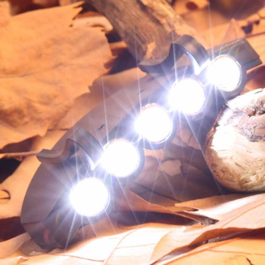 5 ledキャップ帽子つばクリップランプヘッドライトヘッドライトヘッドランプ暗闇の中で作業場所釣りキャンプハイキングと屋外