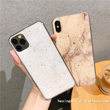 Fashion gold foil Bling Glitter Marble Case For iphone 11 11Pro Max 6 6S 7 7 PLus X XS XR Back Cover Shining Powder Phone Cases(China)