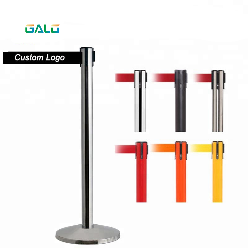 Red Stainless Steel Warning Line Traffic Queue Barrier Warning Obstacle Stainless Steel Protocol Column Hotel Museum Car