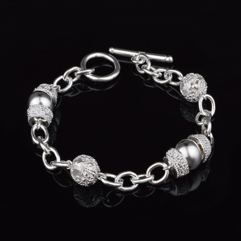 Creative twist circle chain women men silver color bracelets new high -quality fashion jewelry Christmas gifts H070 5
