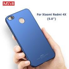 Redmi 4x caso msvii magro fosco capa para xiaomi redmi 4x pro caso xiomi redmi 4 x capa dura para xiaomi 4x telefone casos 5.0