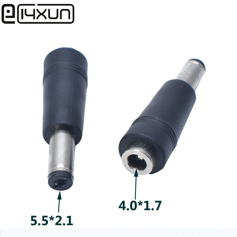 1pcs 4.0x1.7mm Female Jack To 5.5x2.1mm Male Plug DC Power Connector Adapter Laptop 4.0*1.7 To 5.5*2.1