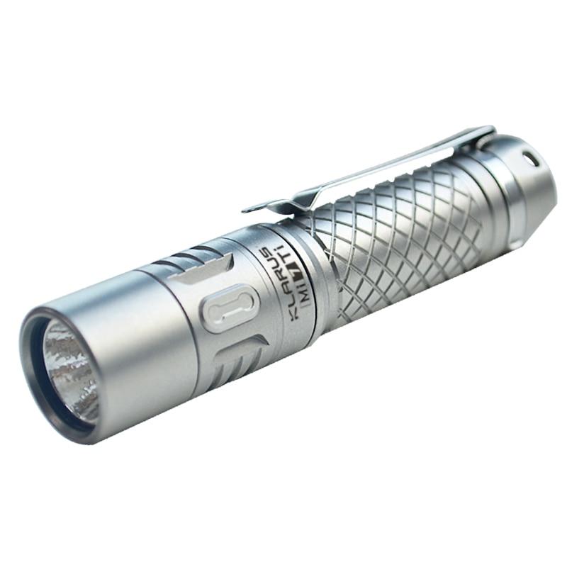 KLARUS Mi7 Ti LED Flashlight CREE XP-L 700 Lumens IPX-8 Rating Mini Flashlight With AA X 1 Battery