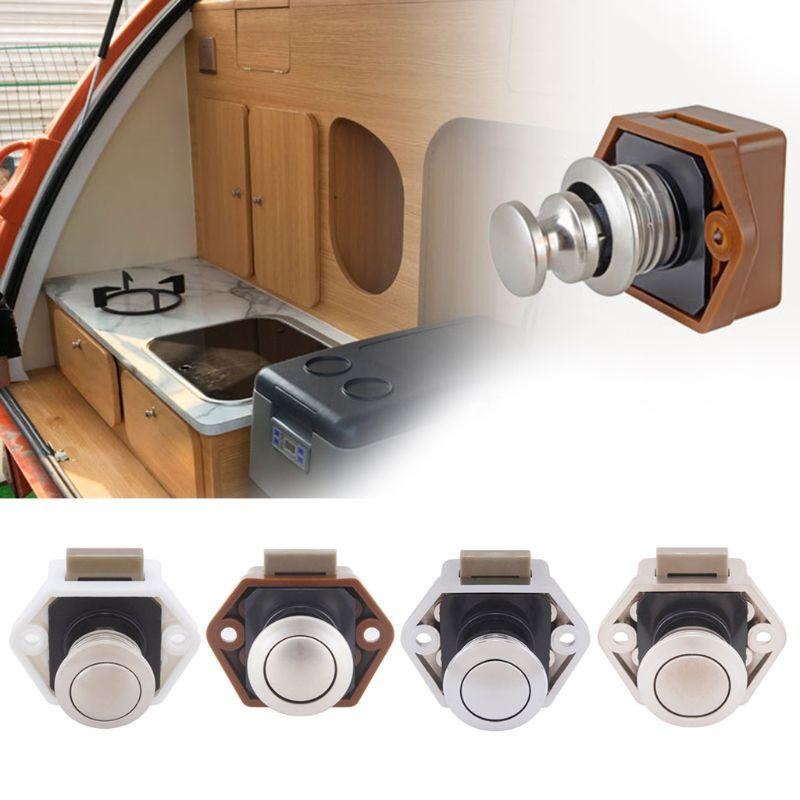 Diameter 20mm Camper Car Push Lock RV Caravan Boat Drawer Latch Button Locks For Furniture Hardware 1