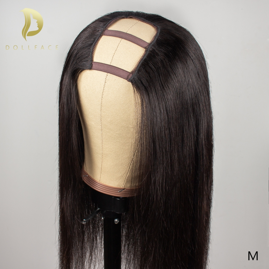 U Part Wigs Short Long Human Hair Wigs For Black Women Natural Remy Afro Straight Brazilian Half Hair Wig 30 Inch