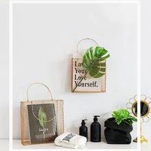 New Hot Sale Fashion Storage Basket Portable Wall Hanging Rack Net Iron Desk Holder For Magazine Newspaper Free Shipping