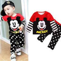 2 stücke Disney Baby Jungen Kleidung Mickey Kinder Kleidung Mädchen Herbst Outfits New Fashion Boutique Kleinkind Winter Kleidung Cartoon Infant