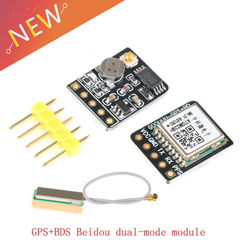 GPS+BDS Beidou Dual-mode Module, Flight Control Satellite Positioning Navigator, ATGM336H Replacement, For Arduino NEO-M8N