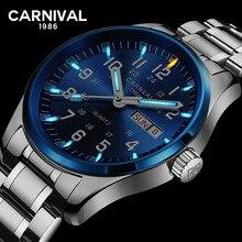 Montre à Quartz pour hommes, Tritium T25 lumineuse Double calendrier, de luxe, montre bracelet étanche, de carnaval, 2020