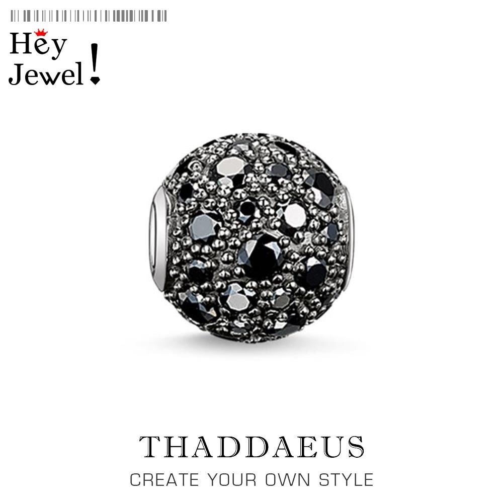 Бусины черные измельченные, серебряные циркониевые бусины подходит браслет Томас ожерелье Карма подвески европейские ювелирные аксессуары