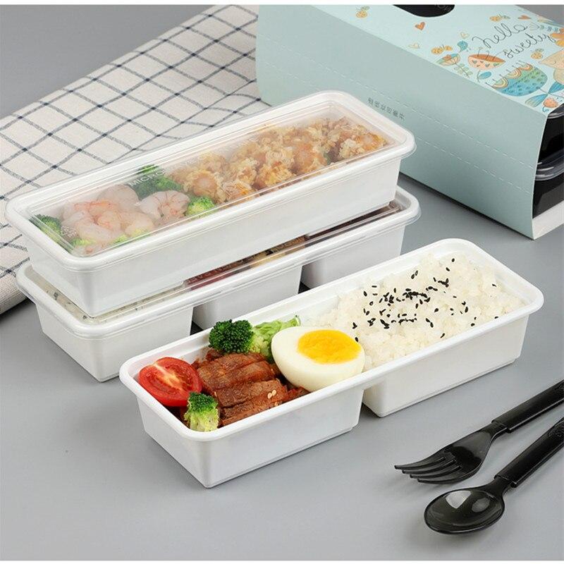 25 pièces compartiment jetable petite boîte à déjeuner affaires mini boîte à déjeuner fruits pêche lumière nourriture fitness repas salade boîtes à emporter - 4