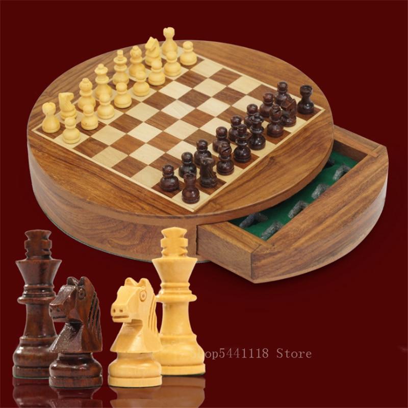 XL Große Schach Holz Set Klapp Schachbrett Handcrafted Stück Holz Bord 18 Zoll