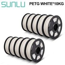 SUNLU PETG Filament 1kg 1,75mm 10 Rollen FDM 3D Drucker petg filamente 10kg Durchmesser Toleranz 0,02mm hohe Zähigkeit Material