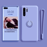 Funda de teléfono magnética para Huawei Honor Nova, P30, P40, P20, P50, 50, 8, 2019 Pro Plus Lite, 4G, 5G, funda de silicona líquida con soporte de anillo