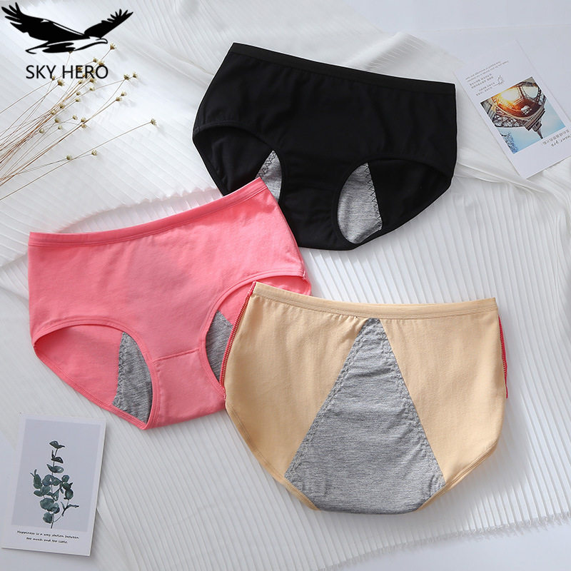 3pcs/lot Leak Proof Menstrual Panties Physiological Pants Women Underwear Period Cotton Waterproof Briefs Dropshipping