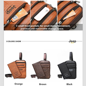Image 3 - JEEP BULUO Multi function Small Sling Chest Bag Legs Waist Bag For Man New Fashion Casual Crossbody Men Messenger Bags