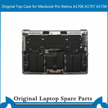 Original Top case mit Tastatur Touchbar Trackpad Batterie für Macbook Pro Retina A1707 A1706 A1708 Palmrest C Fall 13' 15'