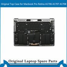 Original Top case with Keyboard Touchbar Trackpad Battery for Macbook Pro Retina A1707 A1706 A1708 Palmrest C Case 13′ 15′