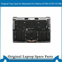Original Top case with Keyboard Touchbar Trackpad Battery for Macbook Pro Retina A1707 A1706 A1708 Palmrest C Case 13' 15'