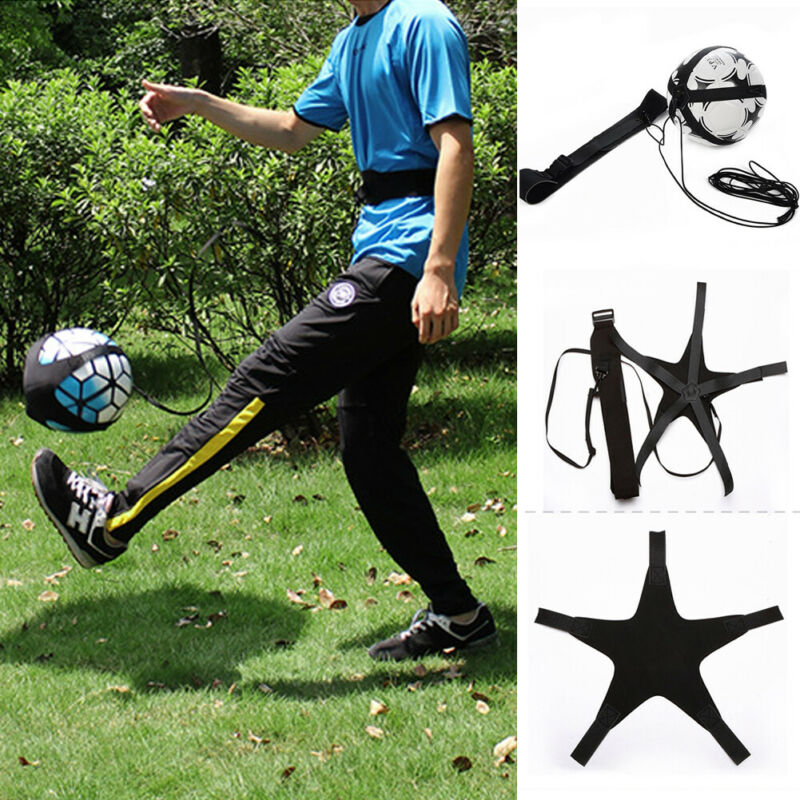 Soccer Ball Juggle Bags Football Training Equipment Kick Solo Children Auxiliary Circling Belt Kids Soccer Trainer Football Kick