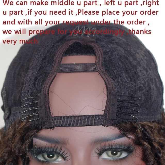 Simbeauty 130 Dichtheid Yaki Straight U Deel Menselijk Haar Pruiken Voor Vrouwen Indian 2X4 Opening U Deel Pruiken midden Deel Remy Haar