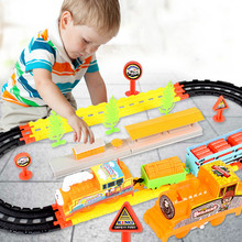 Electric track suit for men's early childhood education children's car and train track