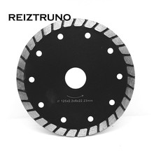 REIZTRUNO 125mm Diamond Saw Blade 5-Inch wide Continuous Turbo 8 MM Segments For Grinder Granite Quartz  Dry or wet Cutting tool