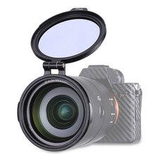 UURig RFS ND 49mm 58mm 67mm 72mm 77mm 82mm DSLR Camera Lens Fliters DSLR Lens Adapter Flip Clip Quick Release Switch Bracket Lens Filter for DSLR Camera Photography Lens Bracket
