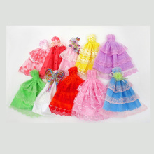 Bjd Doll Clothes 30cm Baby Accessories Christmas Outfit Princess Wedding Colourful Fashion Dress Skirt Girls Toys