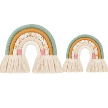 Rainbow Tapestry Wall-Hanging-Decorations Nordic-Style Children Room Pendant Hand-Woven