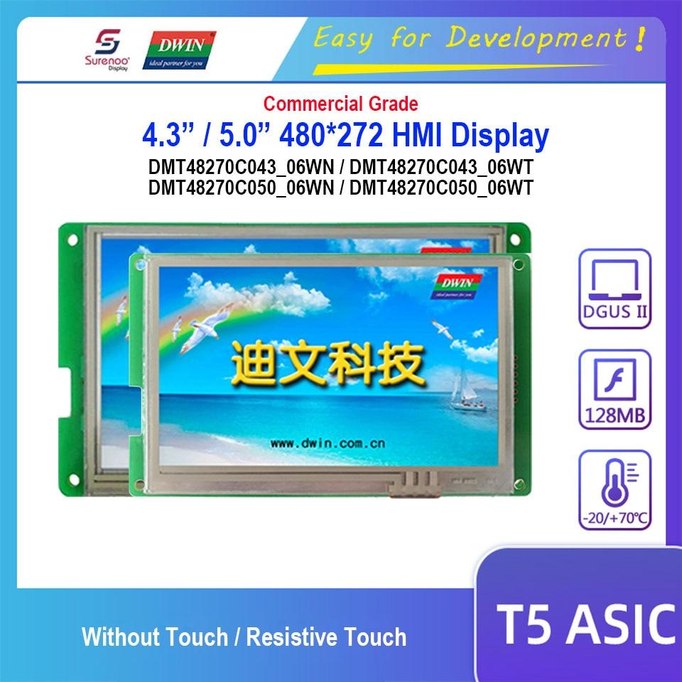 Dwin T5 HMI Display, DMT48270C043_06W / DMT48270C050_06W 4.3