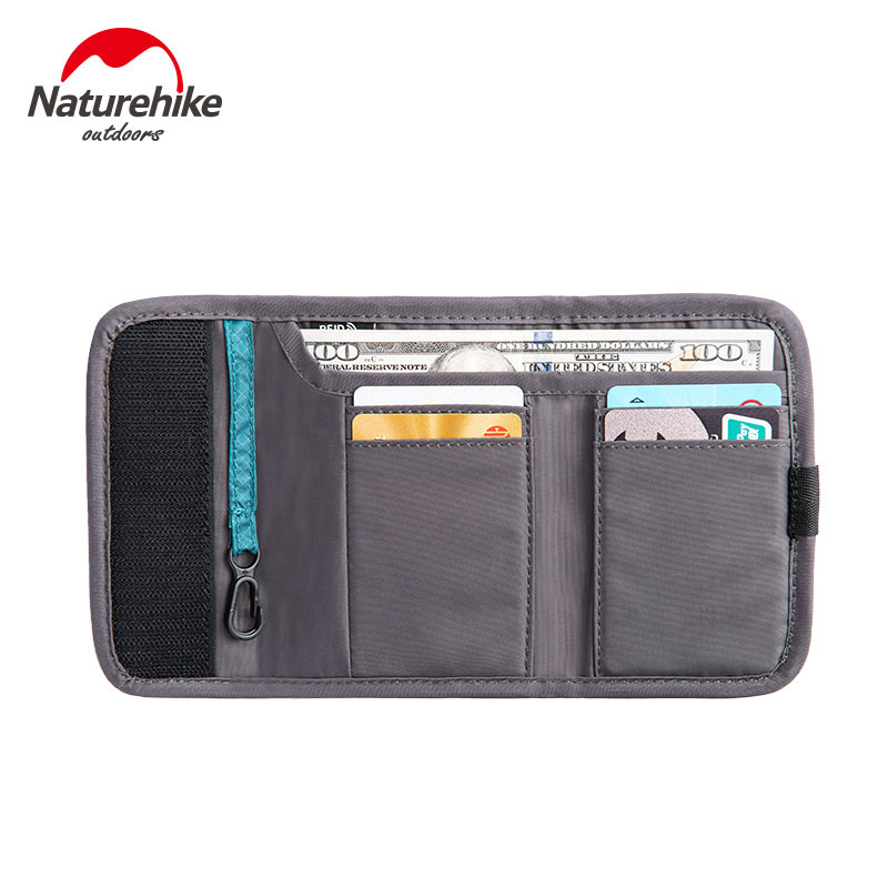 Naturehike Anti-theft Brush Travel Wallet Multifunction 30D  Waterproof Document Storage Bag RFID Blocking 3 Colors