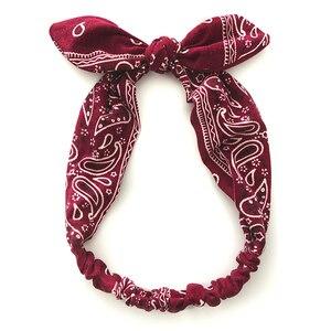 Women Sweet Hair Bands Print Headbands Retro Hair Accessories Cross Turban Bandage Bandanas Hairband Headwrap Summer Headwear(China)