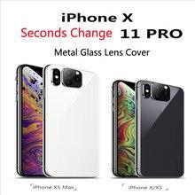Für iPhone Apple X XS Sekunden Ändern 11 Objektiv Aufkleber XS MAX Geändert 11 PRO MAX Explosion Geändert Fall Objektiv 11 PRO MAX Kamera