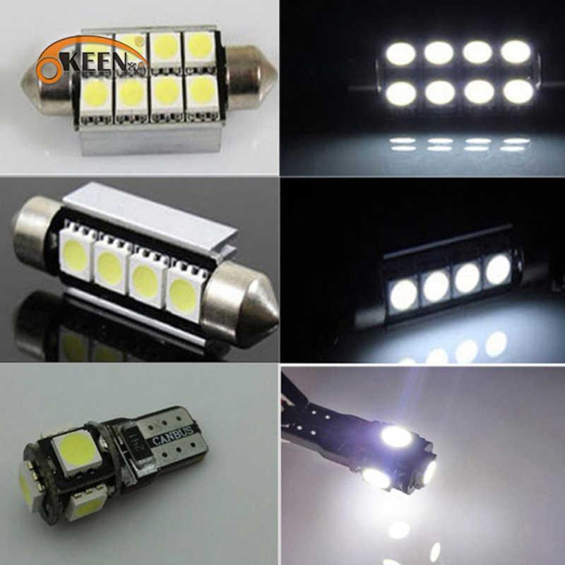 23 قطعة سيارة LED الداخلية قبة أضواء مصباح السقف جذوع لمبات عدة لسيارات BMW X5 E53 2000 2001-2006 لوحة ترخيص ضوء أبيض