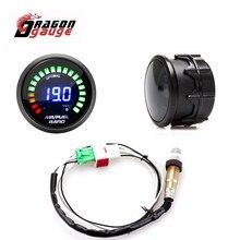 """DRACHEN GAUGE 2 """"52mm Luft Kraftstoff Verhältnis Gauge LED Digital Display Mit Schmalband O2 Sauerstoff Sensor Auto Gauge für 12V Auto 0258006028"""