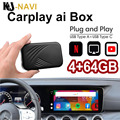 Android 9,0 4 + 64G Carplay AI коробка для plug and play Беспроводной Carplay Tv Box CP600 Зеркало Ссылка Беспроводной Carplay