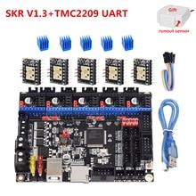 Skr v1.3 placa de controle 32 bit cpu 3d impressora atualização placa-mãe skr 1.3 para ender 3 cr10 uart tmc2209 tmc2208 tmc2130 spi