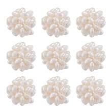 Lot de 10 perles rondes faites à la main en eau douce naturelle de culture, pour la fabrication de bijoux, accessoires de décoration, trou de 3mm